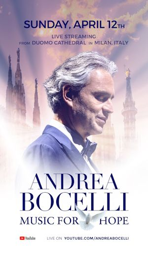 Andrea Bocelli MUSIC FOR HOPE 2020